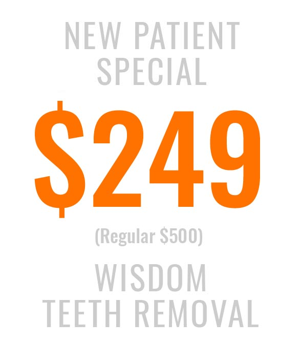 New patient special for wisdom teeth removal