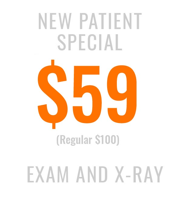 New patient special for exam and x-ray