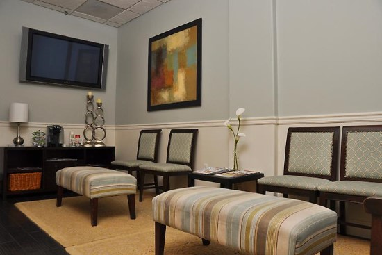 OC Dental Specialists office waiting room