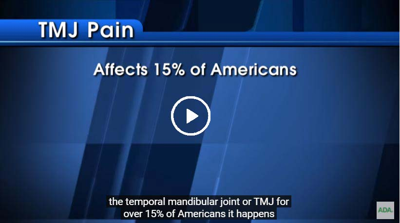 A video on TMJ disorders - click to see